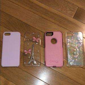 4 IPHONE 7 CASES 😊